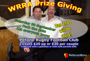 WRRA Prize Giving @ Petone Rugby Football Club